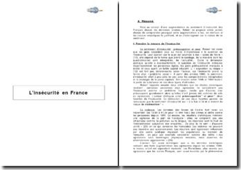 L'insécurité en France de Philippe Robert