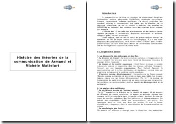 « Histoire des théories de la communication » de Armand et Michèle Mattelart