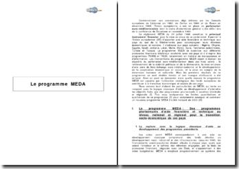 Le programme MEDA