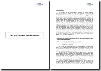 Les politiques territoriales