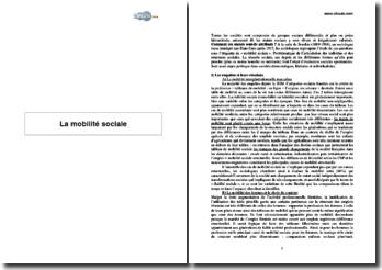 La mobilité sociale et ses effets (2005)