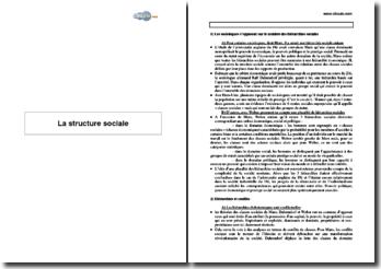 La structure sociale (2005)