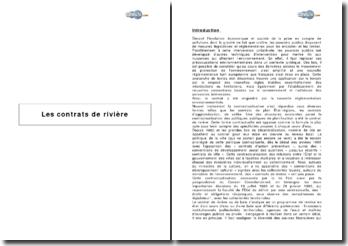 Les contrats de rivière