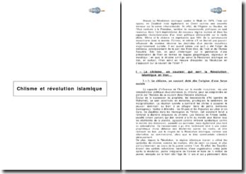 Chiisme et Révolution islamique