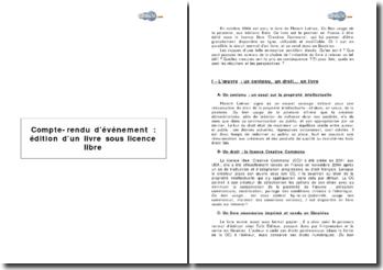Etude de cas: édition d'un livre sous licence libre