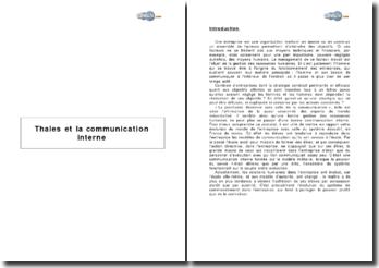 La communication interne : le cas de Thalès communications