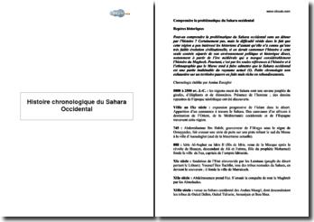 Histoire chronologique du Sahara Occidental
