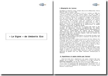 Le Signe d'Umberto Eco