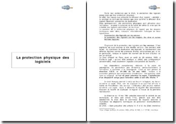 La protection physique des logiciels