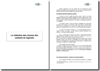 La rédaction des clauses des contrats de logiciels