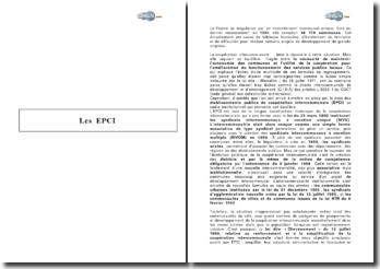Les EPCI