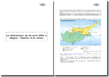 Le référendum du 24 avril 2004 à Chypre : histoire d'un échec