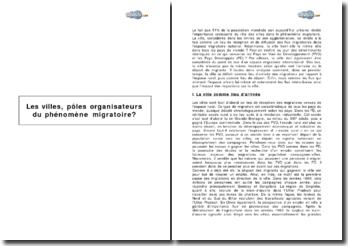 Les villes, pôles organisateurs du phénomène migratoire?