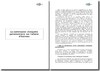 La commission d'enquête parlementaire sur l'affaire d'Outreau