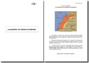 La question du Sahara occidental : histoire et enjeux