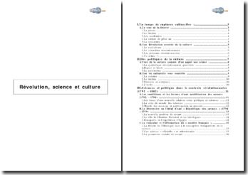Révolution, science et culture