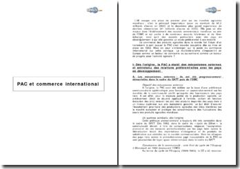 PAC et commerce international