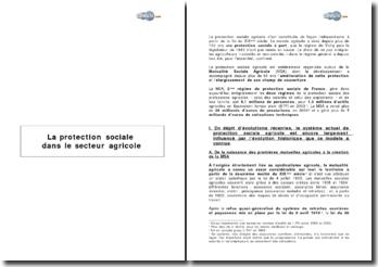 La protection sociale dans le secteur agricole
