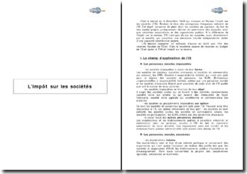 L'impôt sur les sociétés selon le décret du 9 décembre 1949