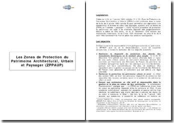 Les Zones de Protection du Patrimoine Architectural, Urbain et Paysager