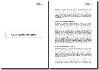 Le consumer magazine