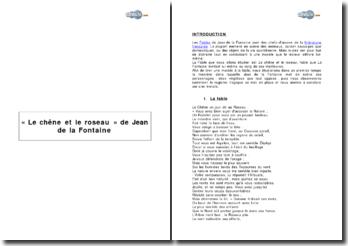 Le chêne et le roseau de Jean de la Fontaine