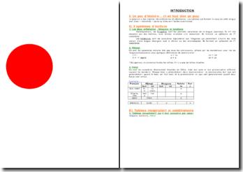 Synthèse : cours de japonais