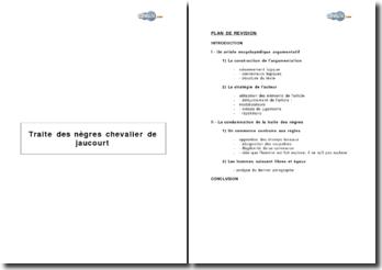 Traite des nègres du Chevalier de Jaucourt