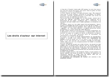 Les droits d'auteur sur internet