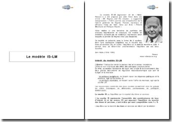 Intérêt et limites du modèle IS-LM