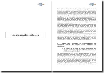 Les monopoles naturels (2007)