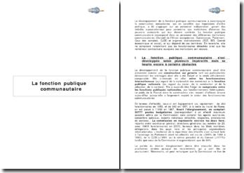 La fonction publique communautaire (2003/4)