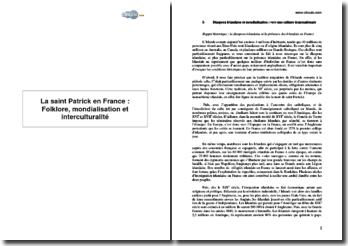 La saint Patrick en France : Folklore, mondialisation et interculturalité