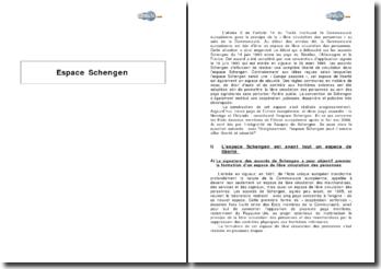 Espace Schengen - liberté, sécurité, et coopération des forces de l'ordre