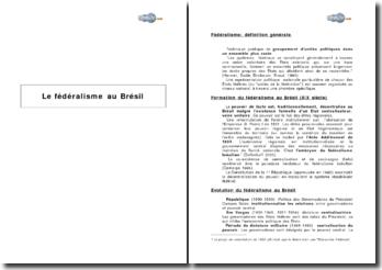 Le fédéralisme au Brésil