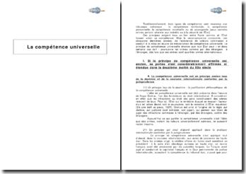 La compétence universelle - valeurs communes et crimes internationaux