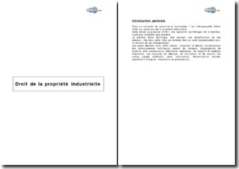 Droit de la propriété industrielle - création à caractère industriel et signes distinctifs