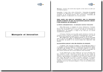 Monopole et innovation