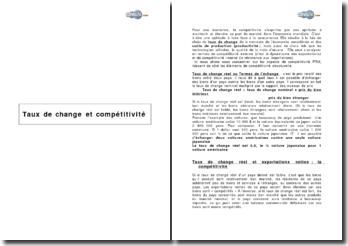Taux de change et compétitivité