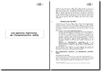Les agences régionales de l'hospitalisation (ARH)