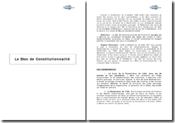 Le bloc de constitutionnalité (2007) - Textes et jurisprudence