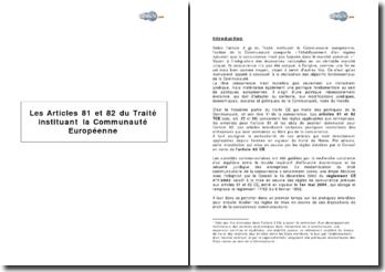 Les articles 81 et 82 du traité instituant la Communauté européenne