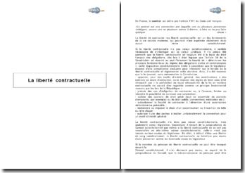 La liberté contractuelle et la jurisprudence du Conseil constitutionnel