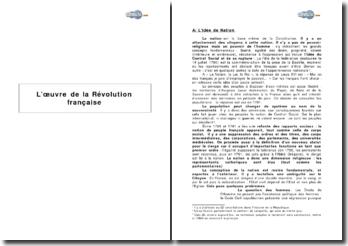 L'oeuvre de la Révolution française
