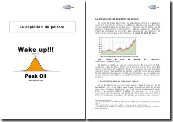 La déplétion du pétrole