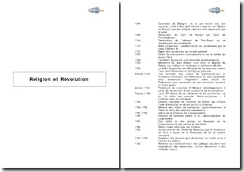 Religion et Révolution 1516-1806