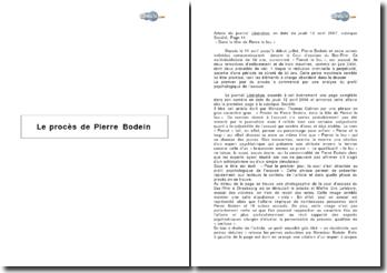 Le procès de Pierre Bodein