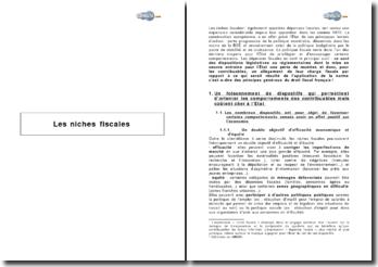 Les niches fiscales ou l'expansion d'une disposition législative