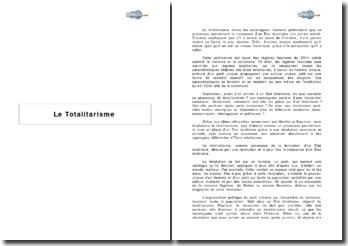 Totalitarisme et processus