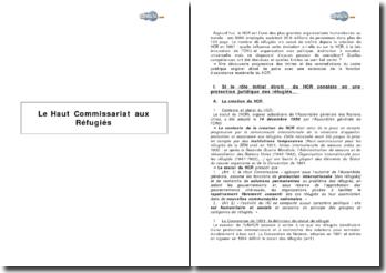 Le Haut Commissariat aux Réfugiés